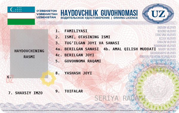 Uzbekistan to introduce new driving licenses from October 2017